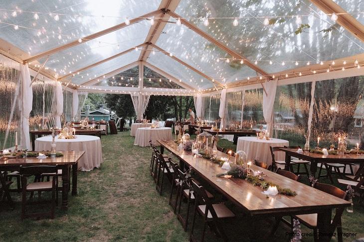 outdoor wedding venue tent